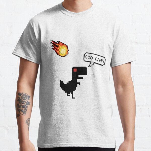 ❤️  Pixel T-Rex Meteor Offline  Classic T-Shirt