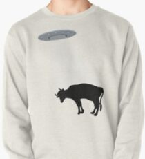 Banksy Style Cow Abduction  Pullover