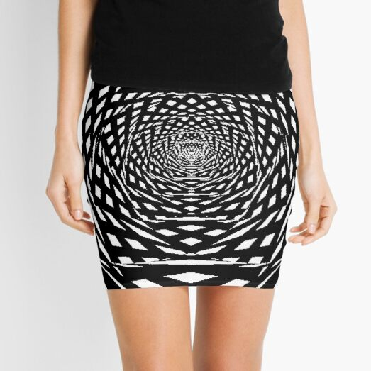 Visual Illusion, Psychedelic Art Mini Skirt