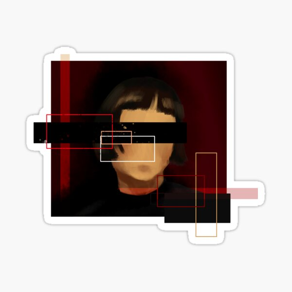The Girl With No Face Sticker