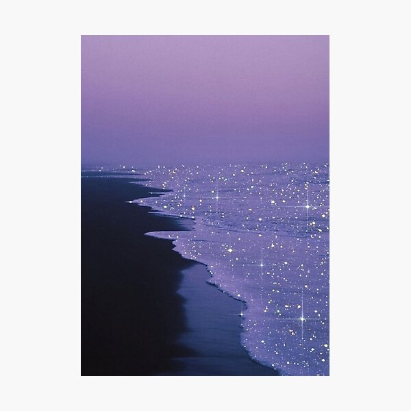 night on the beach Photographic Print