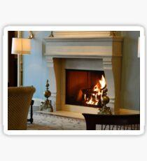 Lobby Fireplace       ^ Sticker
