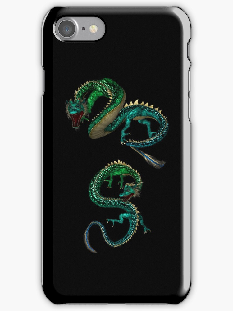 Dragons iphone case  by Elaine  Manley