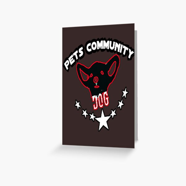 Pets community t-shirt Greeting Card