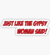 The gypsy woman Sticker