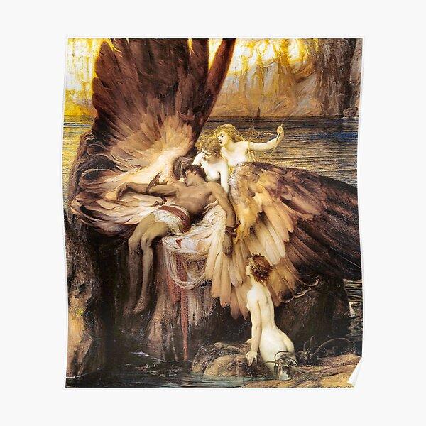 The Lament of Icarus Herbert James Draper Poster