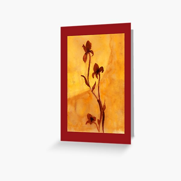 Flowers Against the Sun Greeting Card