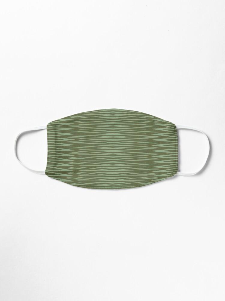Alternate view of Olive Green Diamond Stripes Pattern Mask