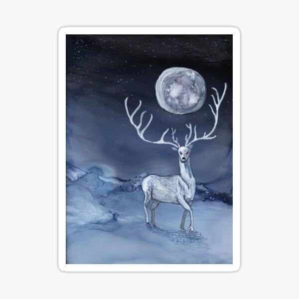 Majesty in Winter Moonlight Sticker