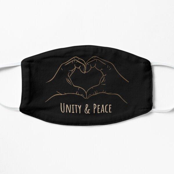 Unity & peace heart hands Mask