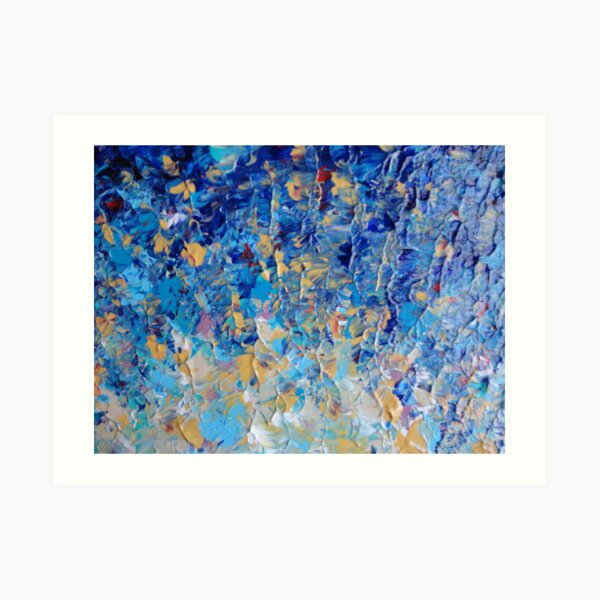 HYPNOTIC BLUE SUNSET - Simply Beautiful Royal Blue Navy Turquoise Aqua Sunrise Abstract Nature Decor Art Print