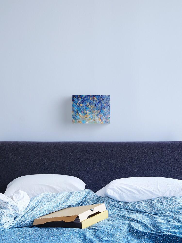 HYPNOTIC BLUE SUNSET - Simply Beautiful Royal Blue Navy Turquoise Aqua  Sunrise Abstract Nature Decor | Canvas Print