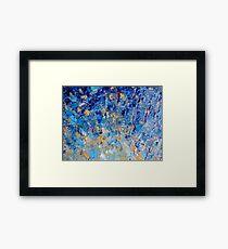 HYPNOTIC BLUE SUNSET - Simply Beautiful Royal Blue Navy Turquoise Aqua Sunrise Abstract Nature Decor Framed Print