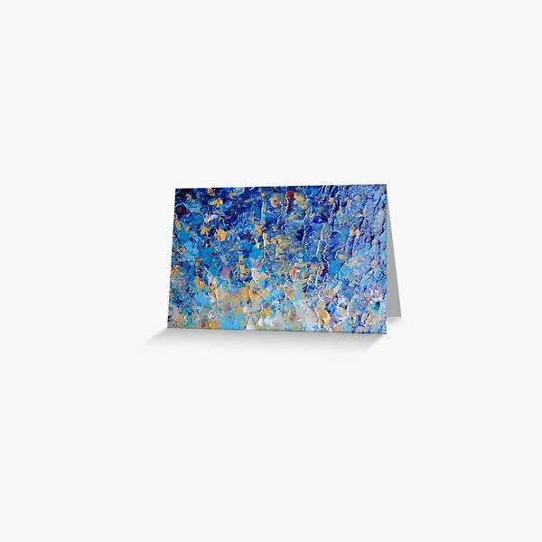 HYPNOTIC BLUE SUNSET - Simply Beautiful Royal Blue Navy Turquoise Aqua Sunrise Abstract Nature Decor Greeting Card