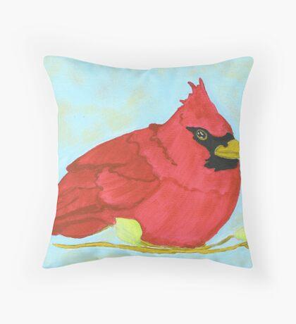 NC Cardinal Throw Pillow