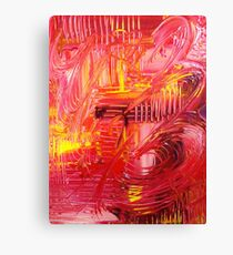 THE TANGO - BOLD Bright Acrylic Beautiful Modern Abstract Painting Dance Red Yellow Canvas Print