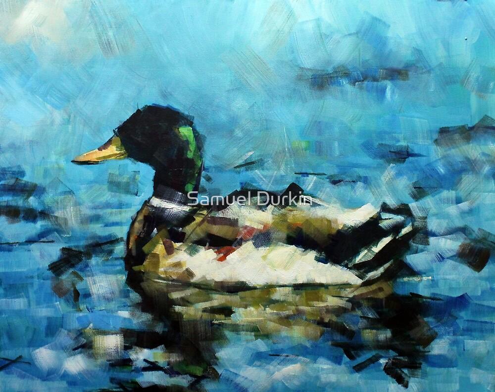 Abstract Malard Duck Painting by Samuel Durkin