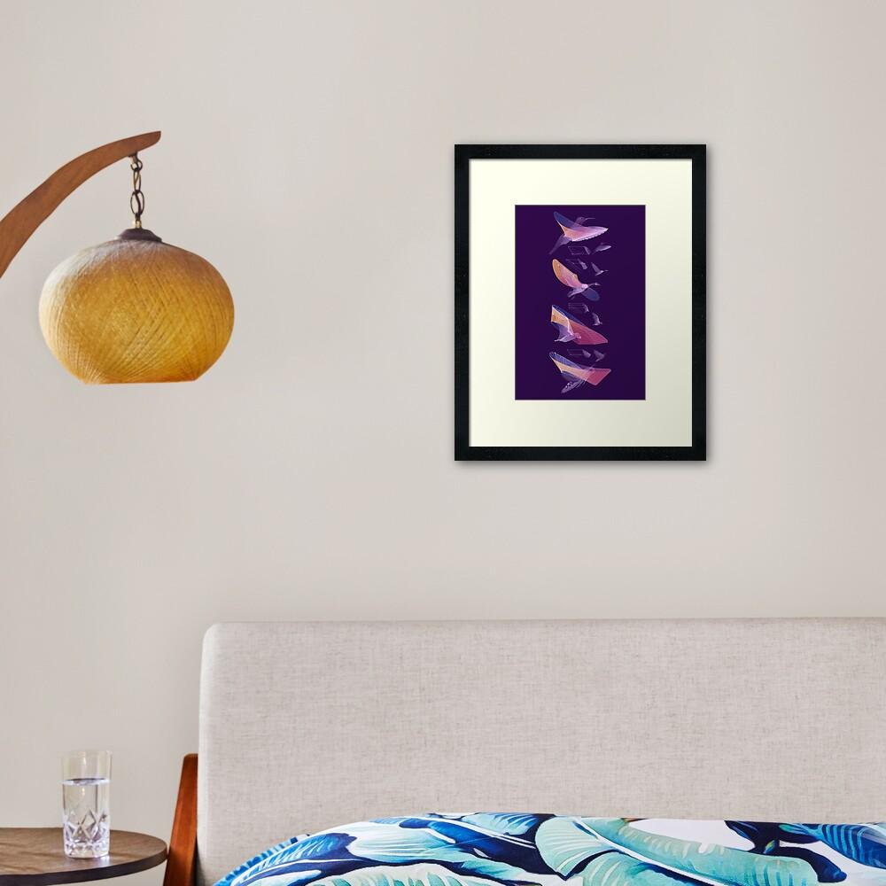 Flight Deconstructed Framed Art Print