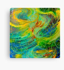NAUTICAL GALAXY - Beautiful Aquatic Blue Green Ocean Universe Abstract Painting Gift Decor Canvas Print
