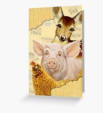 Farmyard Politics Greeting Card
