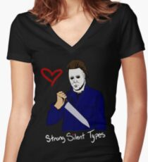 Horror Boyfriends- Michael Myers Women's Fitted V-Neck T-Shirt