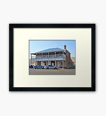 An old restored building in Fitzroy Street , Warwick,  QLD Framed Print