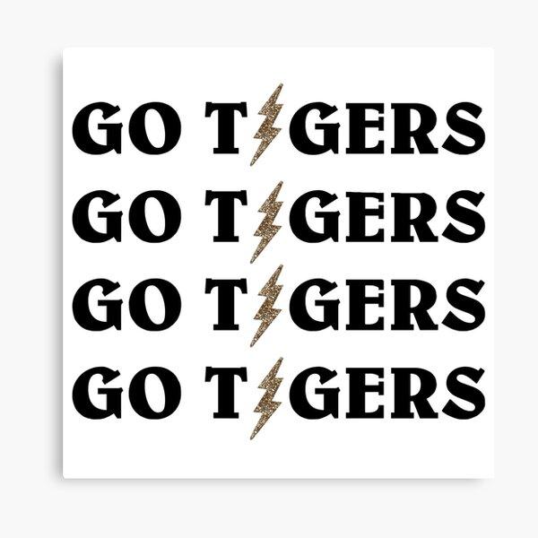 MIZ GO TIGERS LIGHTNING Canvas Print