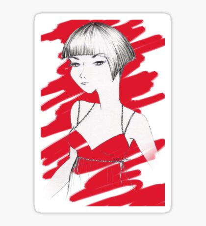 Asian Girl Sticker