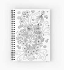 Abundies Flower Doodles Spiral Notebook
