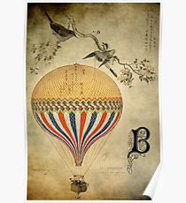 Vintage Balloon Poster