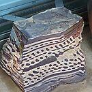Slab of Zebra rock. by Margaret  Hyde