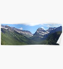 Peaks and ranges (panorama) Poster