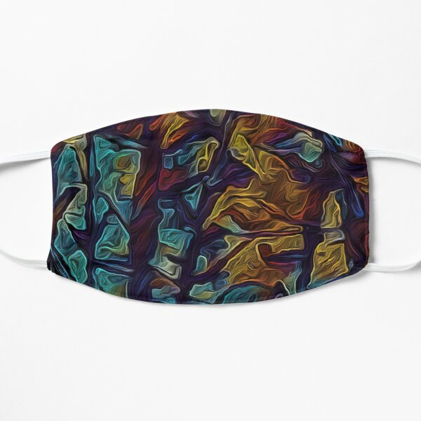 Tribal Trees And Mountains Flat Mask