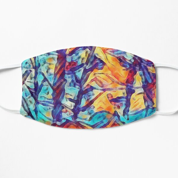Trees Floating Above Mountains Flat Mask