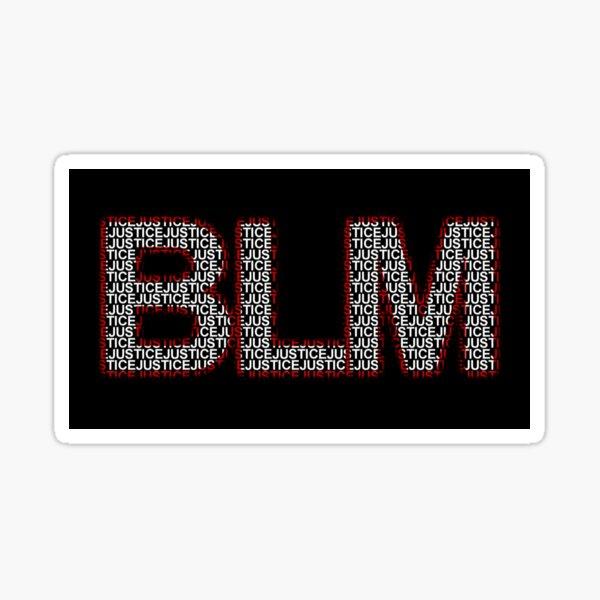 """BLM """"Justice"""" Sticker Sticker"""
