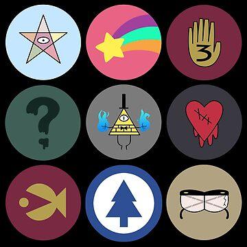 Gravity Falls Cipher Wheel by LovelyKouga