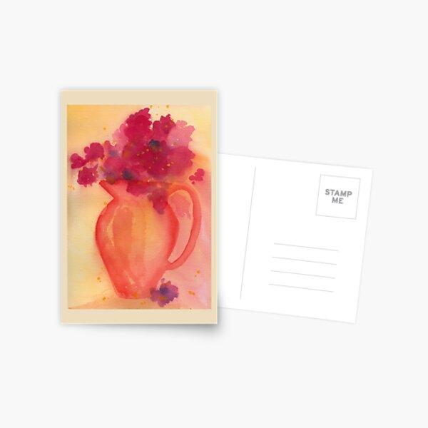Bouquet in Pitcher Postcard