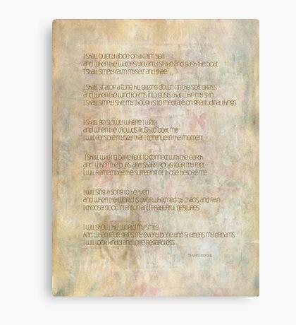 I shall quietly abide Canvas Print