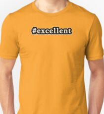 Excellent - Hashtag - Black & White T-Shirt