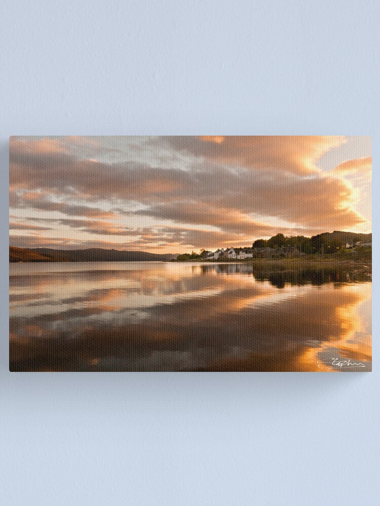 Alternate view of A Fyne Reflection Canvas Print