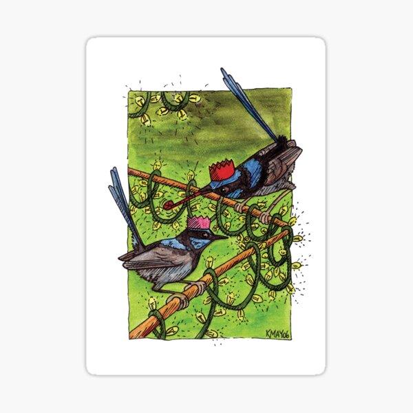 Fairy Wren Christmas Party Sticker