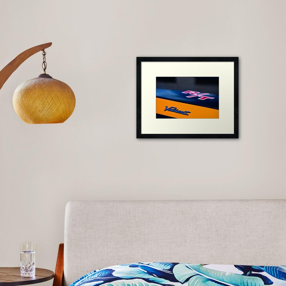Orange Charger R/T Framed Art Print