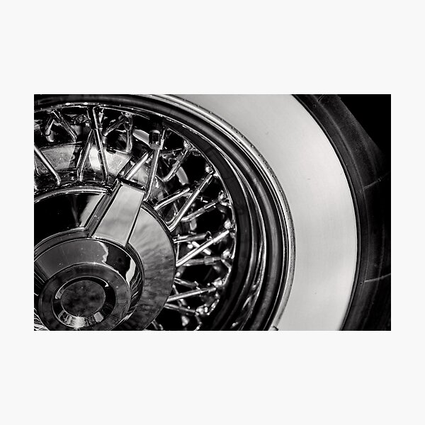 White walls and chromed spokes Photographic Print