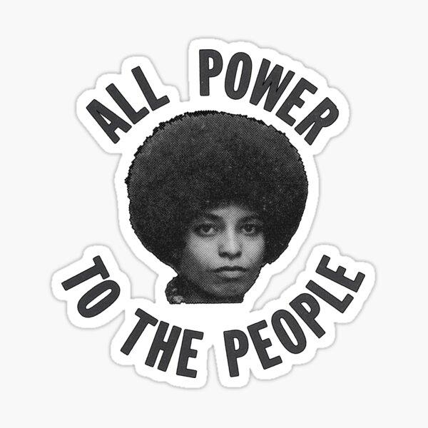 Angela Davis - All Power To The People Sticker