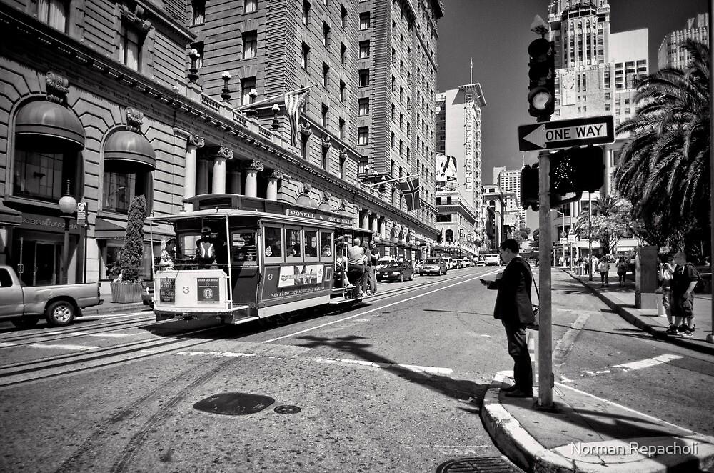 One way waiting - San Francisco by Norman Repacholi