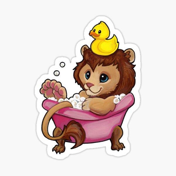 Rubber ducky lion Sticker
