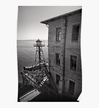 The Lonely Guard Tower - Alcatraz, San Francisco Poster