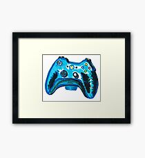 Blue Xbox Controller Framed Print