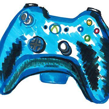 Blue Xbox Controller by Gabatron3000