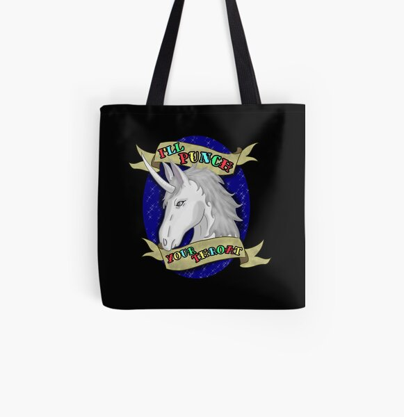 I'll Punch Your Throat All Over Print Tote Bag